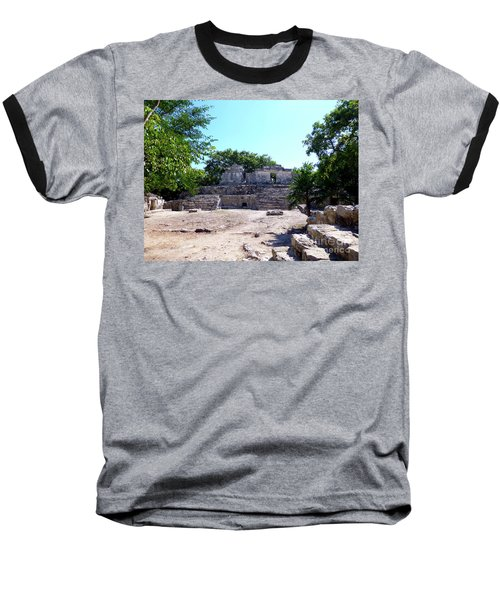 Baseball T-Shirt featuring the photograph M Ruin by Francesca Mackenney