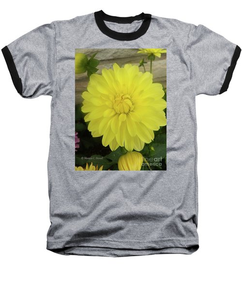 M Shades Of Yellow Flowers Collection No. Y90 Baseball T-Shirt