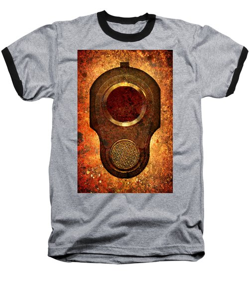 M1911 Muzzle On Rusted Background Baseball T-Shirt