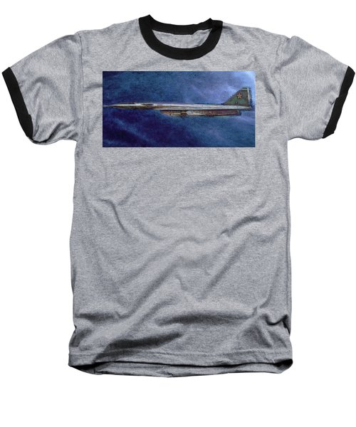 Baseball T-Shirt featuring the painting M50 Myasishchev  by Michael Cleere