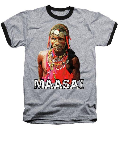 Maasai Moran Baseball T-Shirt by Anthony Mwangi