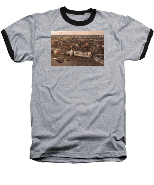 Baseball T-Shirt featuring the painting Maastricht Direction East by Nop Briex