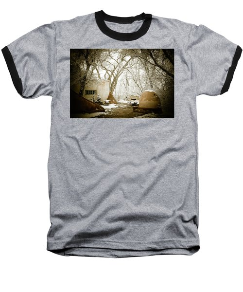 Baseball T-Shirt featuring the photograph Mabel Luhan Dodge Home Exterior by Marilyn Hunt