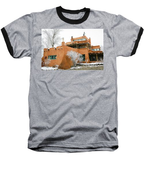 Baseball T-Shirt featuring the photograph Mabel Luhan Dodge House 1 by Marilyn Hunt