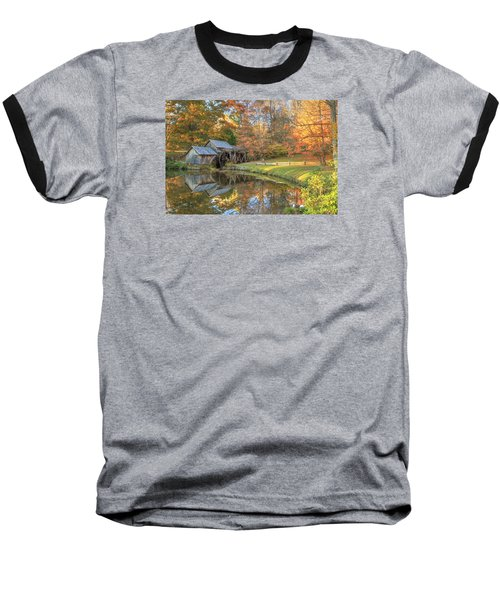 Mabry Mill. Blue Ridge Parkway Baseball T-Shirt by Doug McPherson