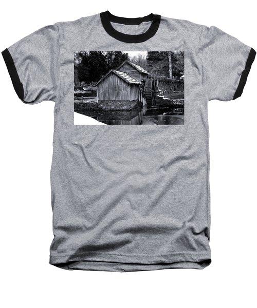 Mabry Mill Bw Light Snow Baseball T-Shirt