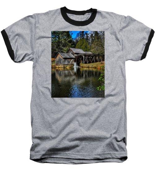 Mabry Mill  Baseball T-Shirt by Steve Hurt