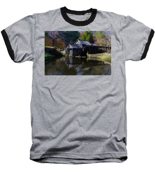 Mabrys Mill On The Blue Ridge Baseball T-Shirt by B Wayne Mullins