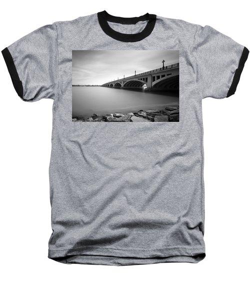 Macarthur Bridge To Belle Isle Detroit Michigan Baseball T-Shirt