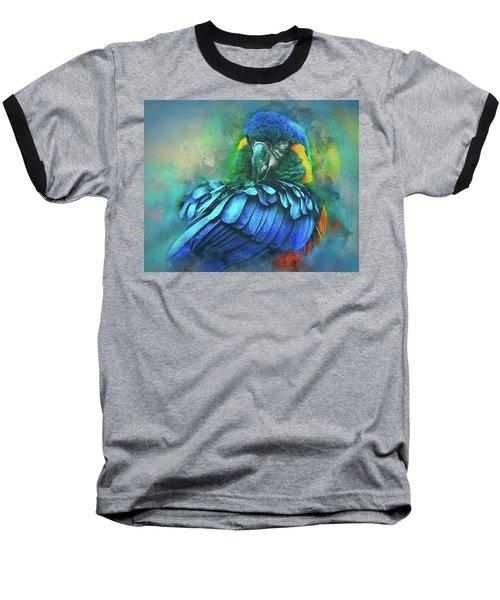 Macaw Magic Baseball T-Shirt by Brian Tarr