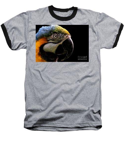 Macaw Parrot Portrait Baseball T-Shirt