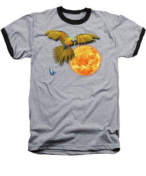 Macaw Sun Baseball T-Shirt