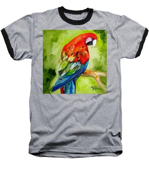 Macaw Tropical Baseball T-Shirt
