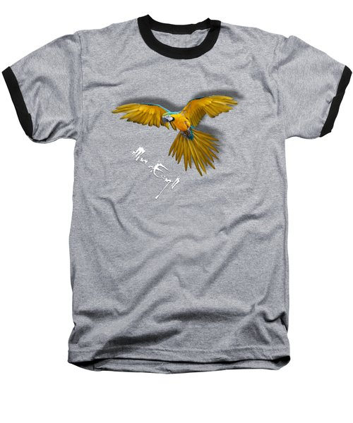 Macaws In Paint Baseball T-Shirt