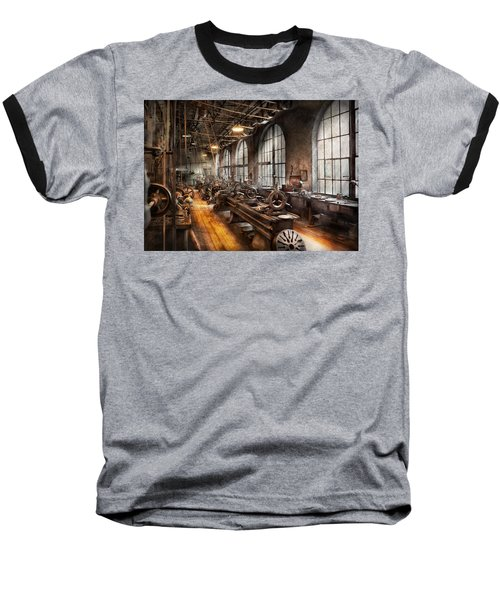 Machinist - A Room Full Of Lathes  Baseball T-Shirt