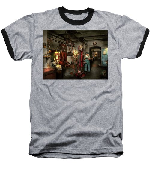 Baseball T-Shirt featuring the photograph Machinist - Government Approved 1919 by Mike Savad
