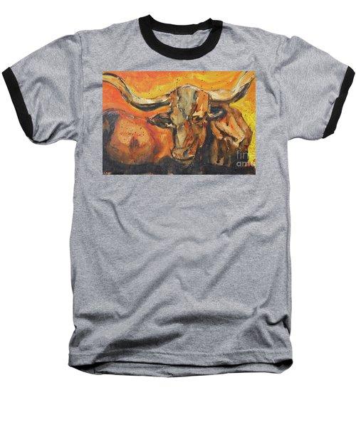 Macho Longhorn Baseball T-Shirt by Ron Stephens