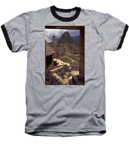 Machu Picchu Baseball T-Shirt by Travel Pics
