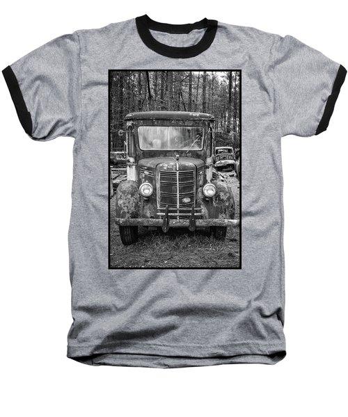 Mack Truck In A Junkyard Baseball T-Shirt