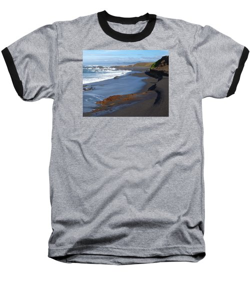 Mackerricher Beach Coastline Baseball T-Shirt by Amelia Racca