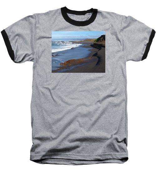 Mackerricher Beach Coastline Baseball T-Shirt