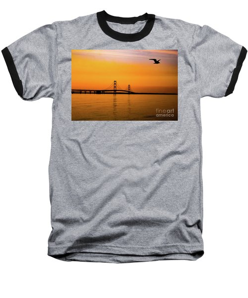 Mackinaw Sunset  Baseball T-Shirt