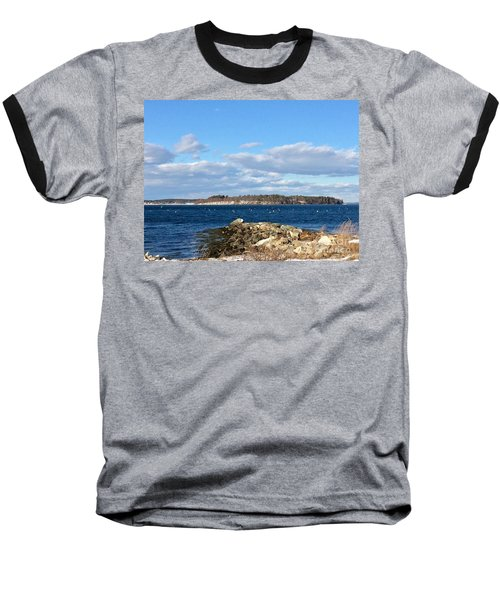 Mackworth Island Falmouth Maine Baseball T-Shirt
