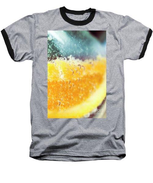 Macro Detail On A Club Orange Cocktail Baseball T-Shirt