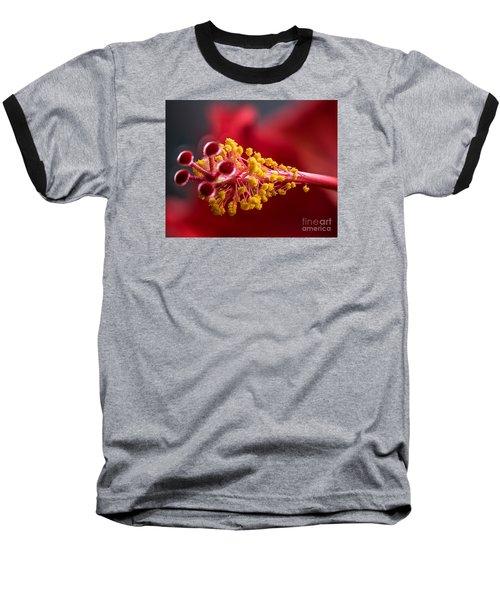 Macro Flower Baseball T-Shirt