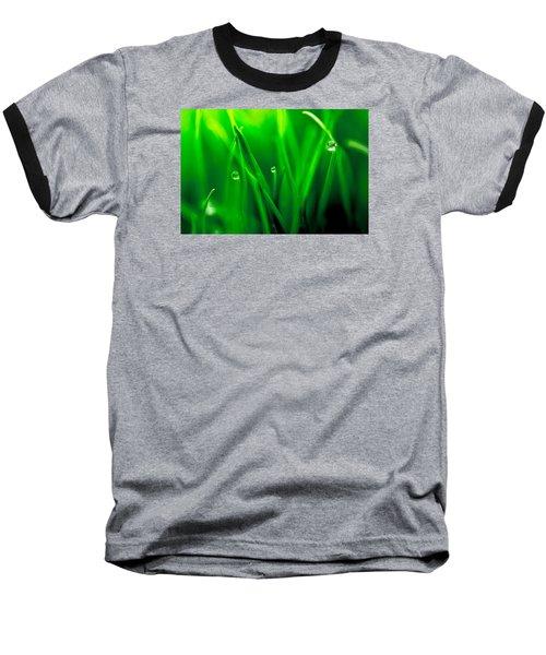 Macro Image Of Fresh Green Grass Baseball T-Shirt by John Williams