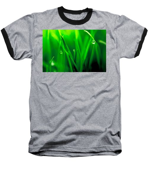 Macro Image Of Fresh Green Grass Baseball T-Shirt
