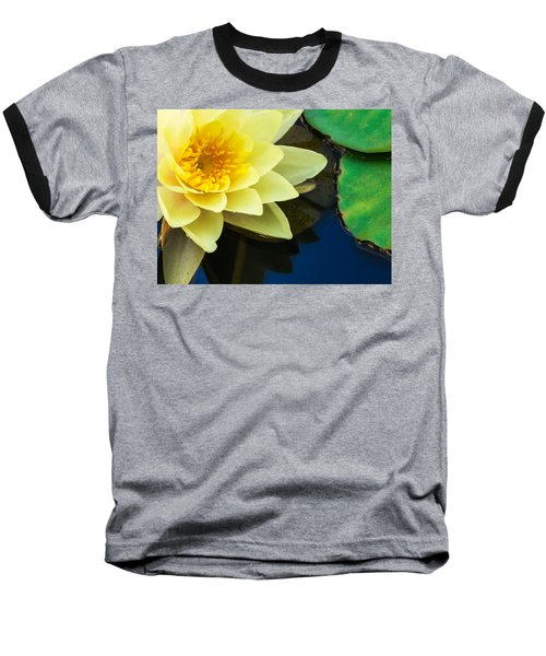 Macro Image Of Yellow Water Lilly Baseball T-Shirt