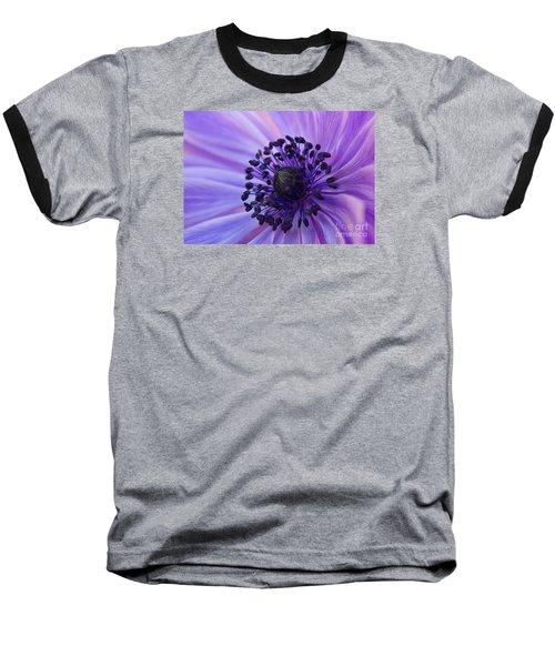 Macro Of Lavender Purple Anemone Baseball T-Shirt