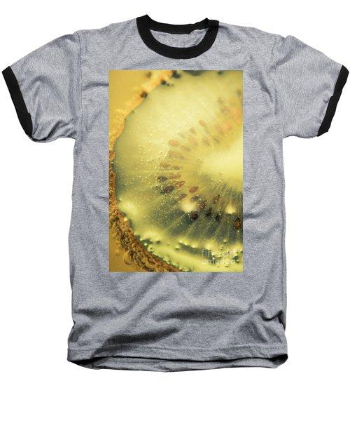 Macro Shot Of Submerged Kiwi Fruit Baseball T-Shirt