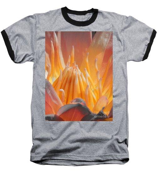 Macro Water Lily Baseball T-Shirt