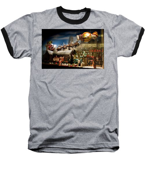 Macy's Miracle On 34th Street Christmas Window Baseball T-Shirt