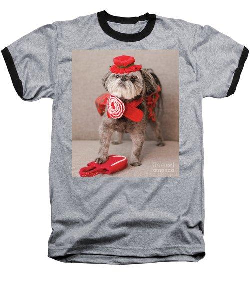 Madam Scarlett In All Red Baseball T-Shirt