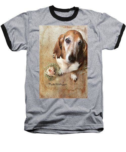 Made With Love II Baseball T-Shirt by Joan Bertucci