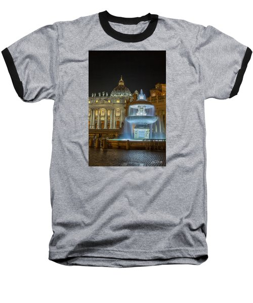 Baseball T-Shirt featuring the photograph Maderno's Fountain by Ed Cilley