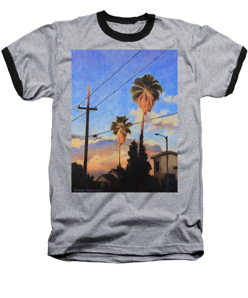 Madison Ave Sunset Baseball T-Shirt by Andrew Danielsen