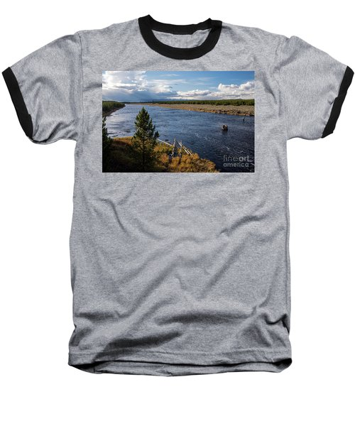 Madison River In Yellowstone National Park Baseball T-Shirt by Cindy Murphy - NightVisions