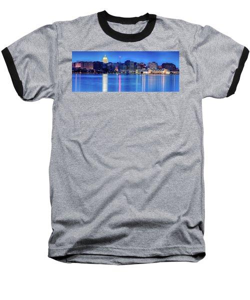 Madison Skyline Reflection Baseball T-Shirt