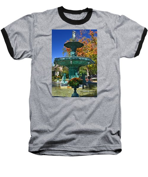 Madison Water Fountain In Fall Baseball T-Shirt