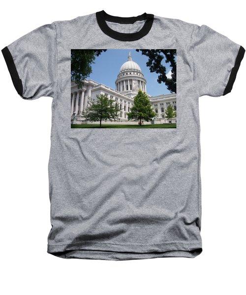 Madison Wi State Capitol Baseball T-Shirt