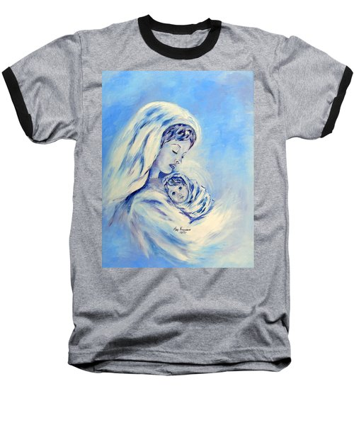 Madonna And Child By May Villeneuve Baseball T-Shirt