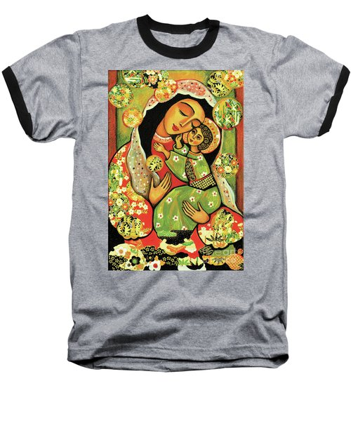 Madonna And Child Baseball T-Shirt by Eva Campbell
