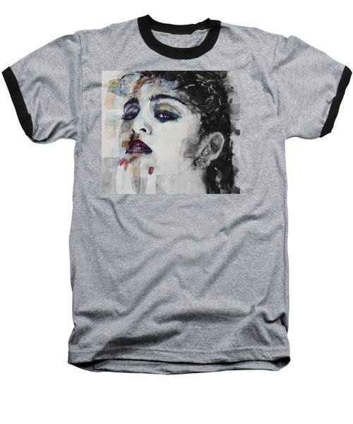 Baseball T-Shirt featuring the mixed media Madonna  Like A Prayer by Paul Lovering