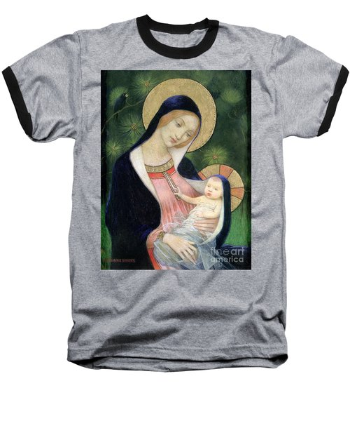 Madonna Of The Fir Tree Baseball T-Shirt by Marianne Stokes