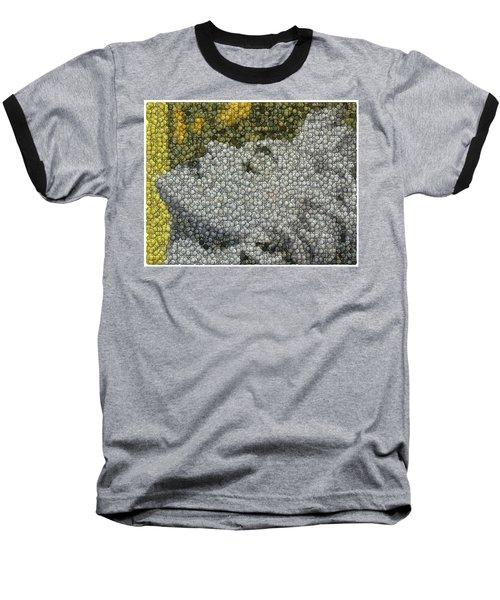 Baseball T-Shirt featuring the digital art Madonna True Blue Material Girl Coins Mosaic by Paul Van Scott