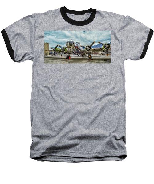 Madras Maiden B-17 Bomber Baseball T-Shirt